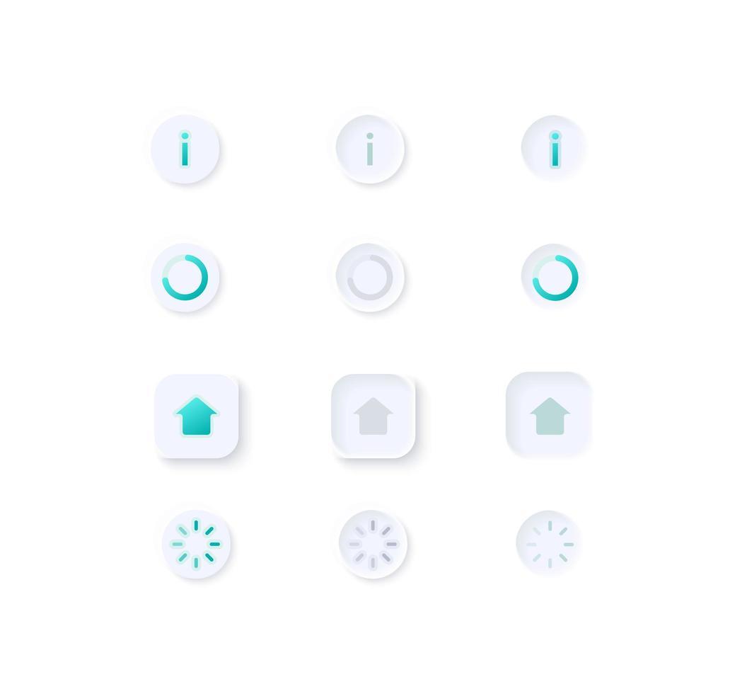 Profile UI elements kit vector