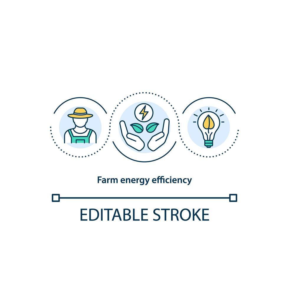 icono del concepto de eficiencia energética agrícola vector