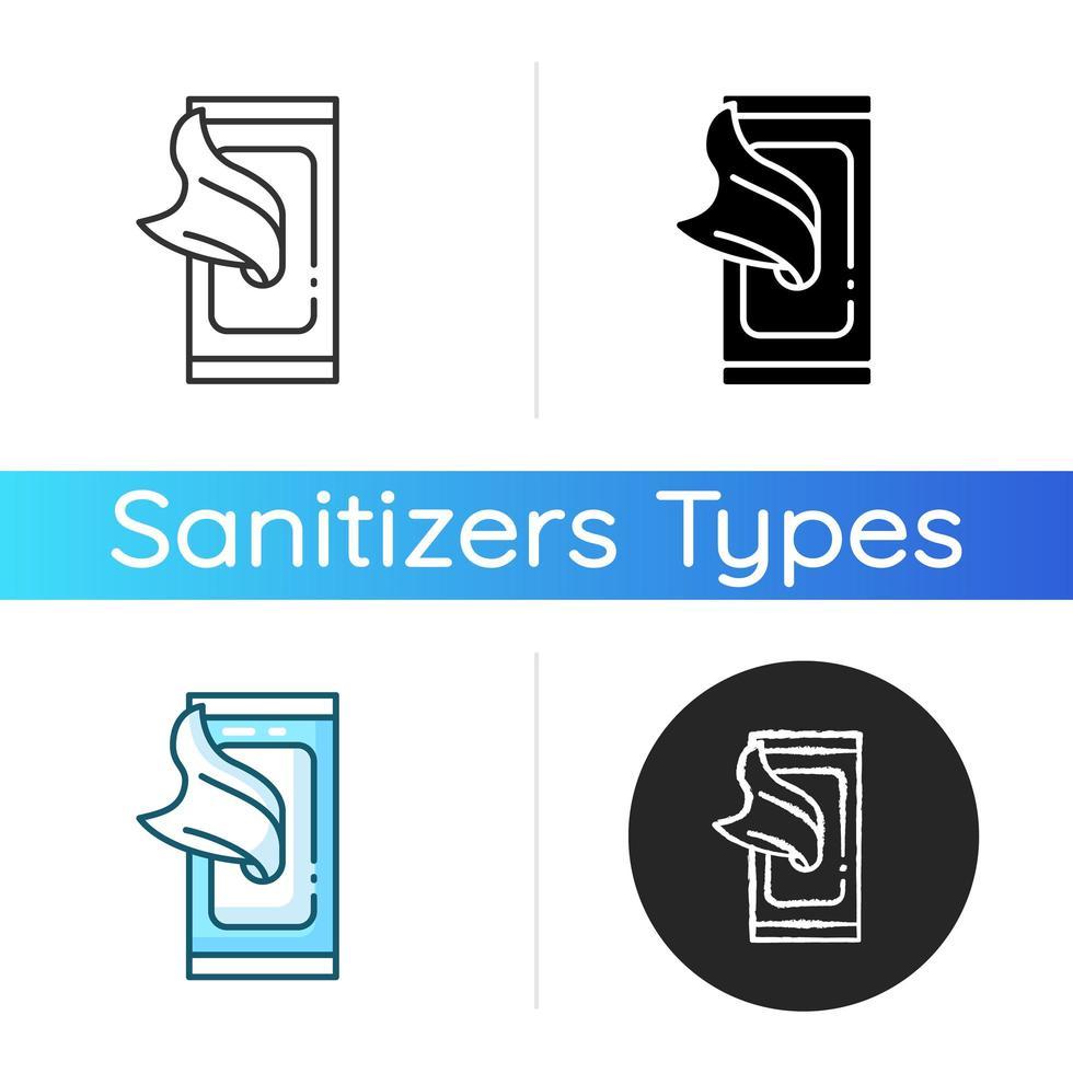 icono de toallitas desinfectantes vector