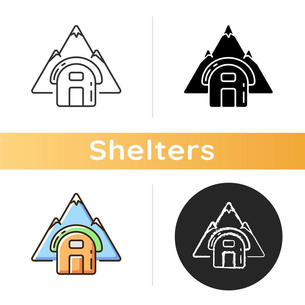icono de refugio vivac vector