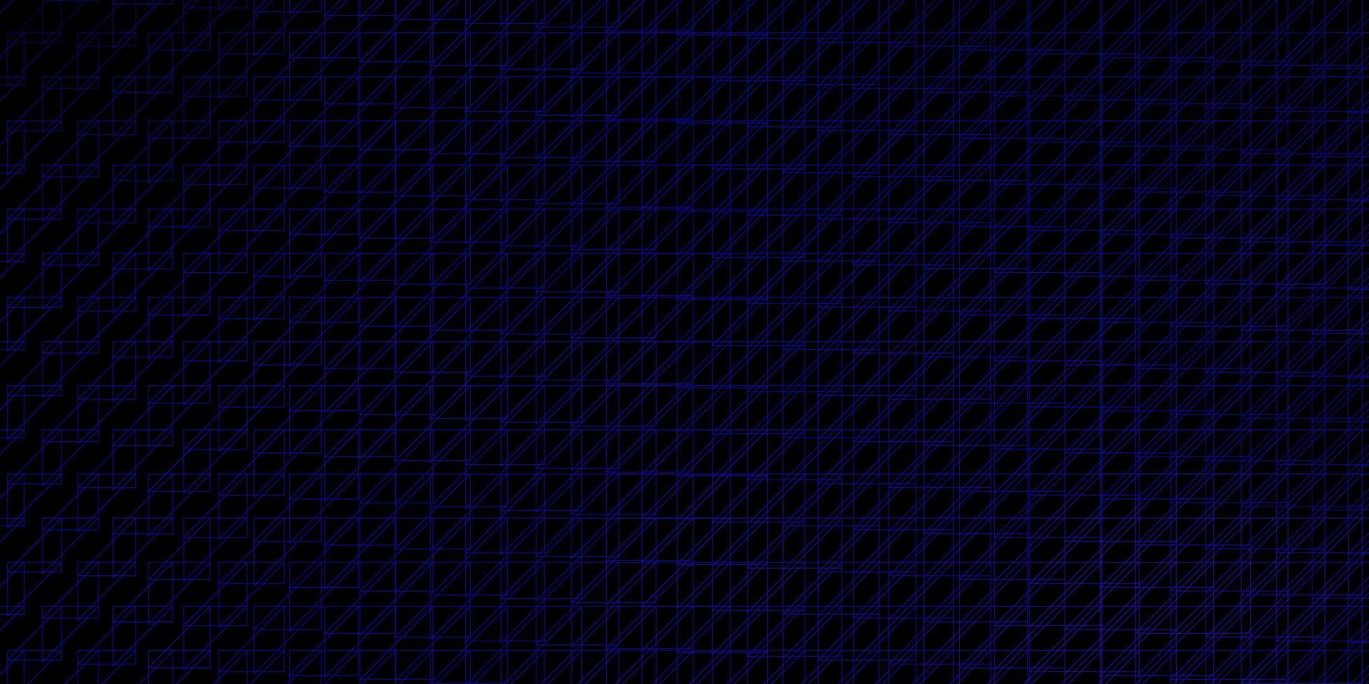 plantilla de vector azul oscuro con líneas.