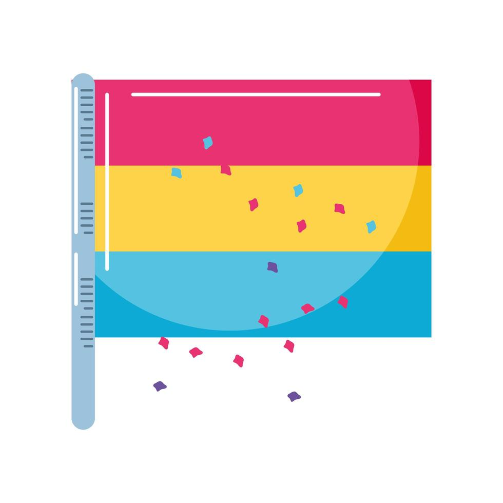 Colorida bandera del orgullo gay en fondo blanco. vector