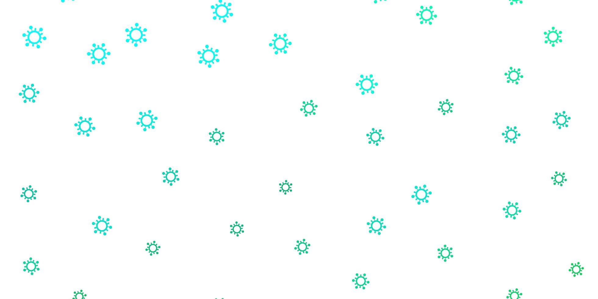 textura de vector verde claro con símbolos de enfermedades.