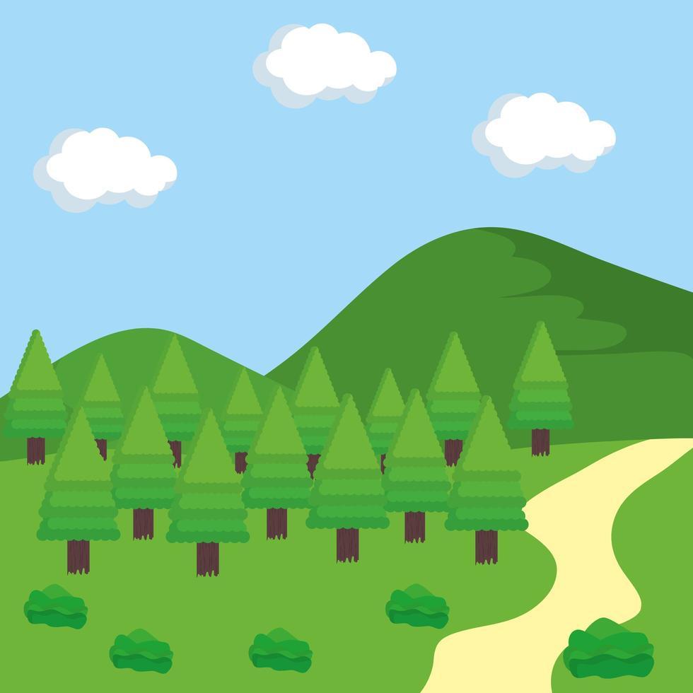escena de paisaje al aire libre vector