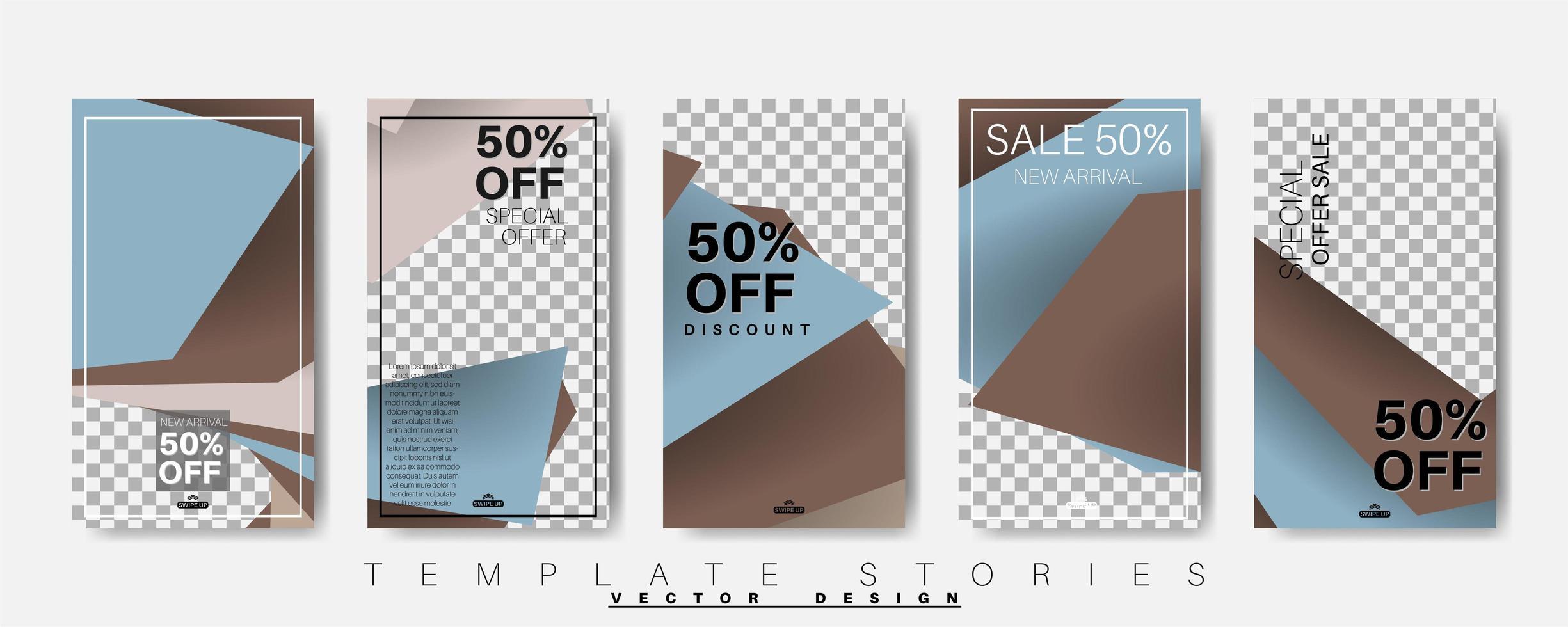 Plantilla de banner de forma geométrica que se puede editar para publicaciones en redes sociales. ilustración de diseño vectorial. conjunto de paquetes vector