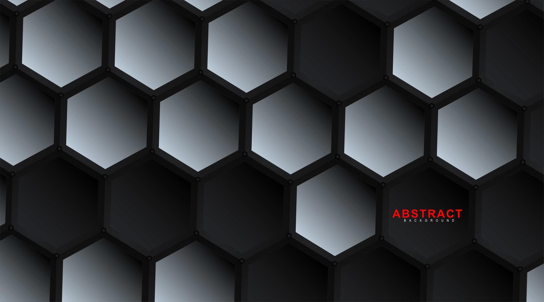 Abstract vector hexagonal geometry background