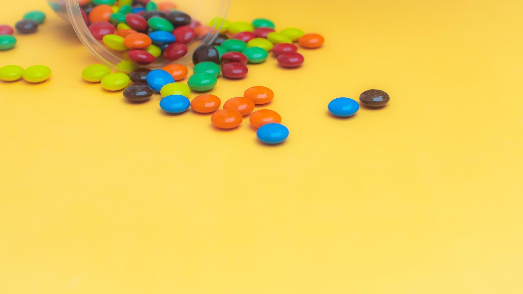 Chocolate coated candies photo