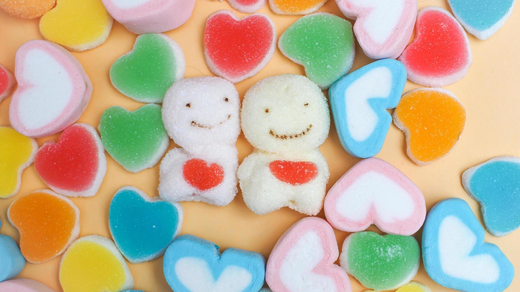 lindos caramelos de gelatina foto