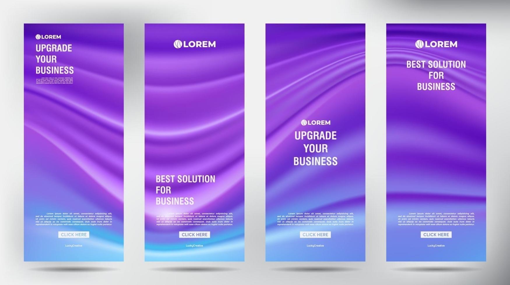 Mesh Color Flow roll up business brochure flyer banner set vector