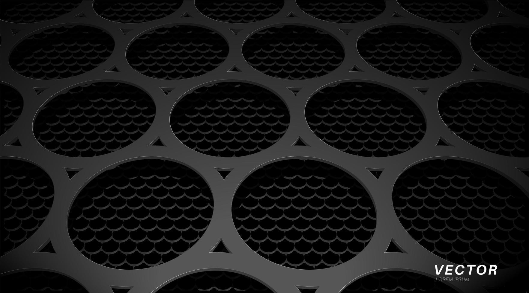 Diseño de fondo abstracto con textura de metal perforado. diseño ilustración vectorial 3d vector