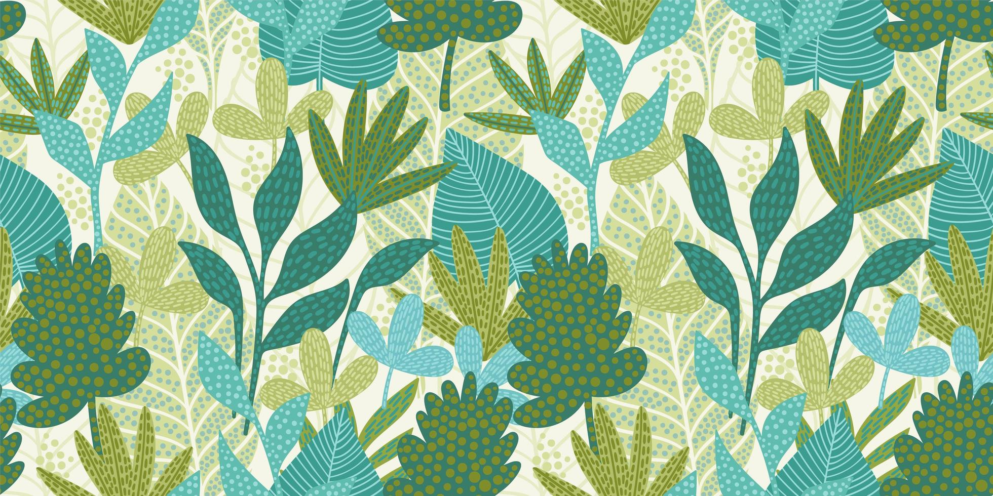 Artistic seamless pattern with abstract leaves. Modern design for paper, cover, fabric, interior decor and other. vector