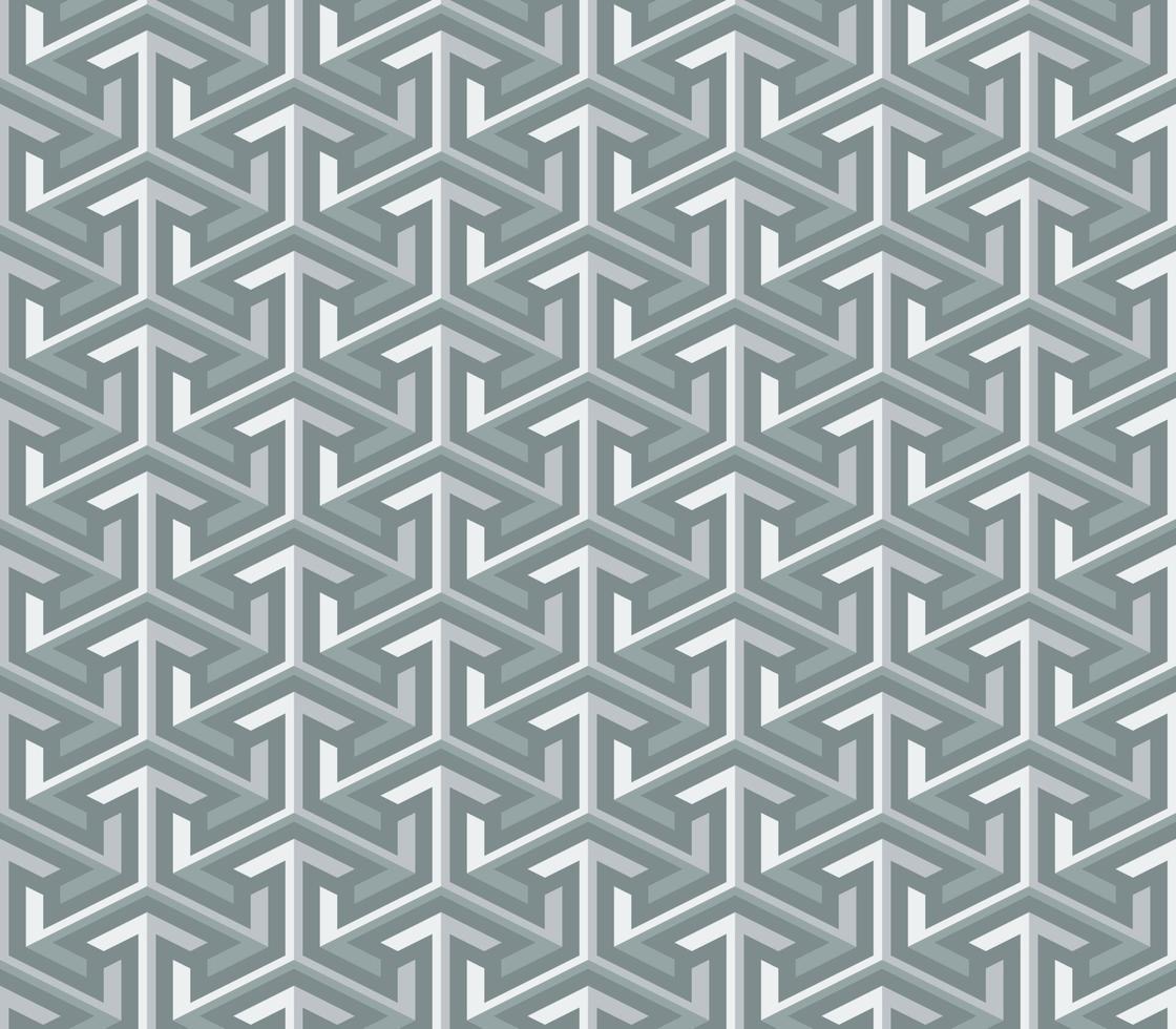 Fondo de patrón transparente de flecha geométrica 3d abstracto vector