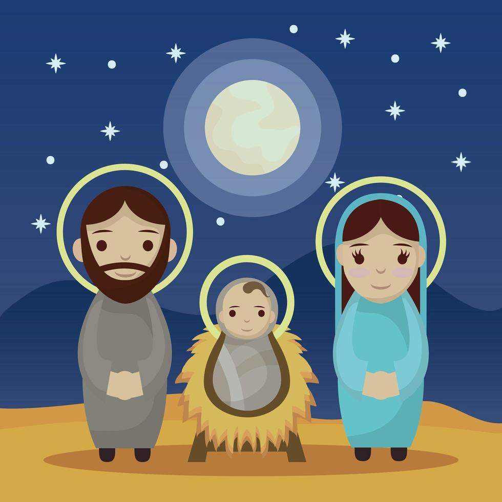 Epiphany of Jesus, sacred family vector
