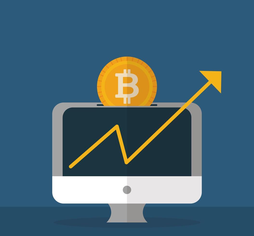 criptomoneda y dinero, diseño plano del concepto de finanzas vector
