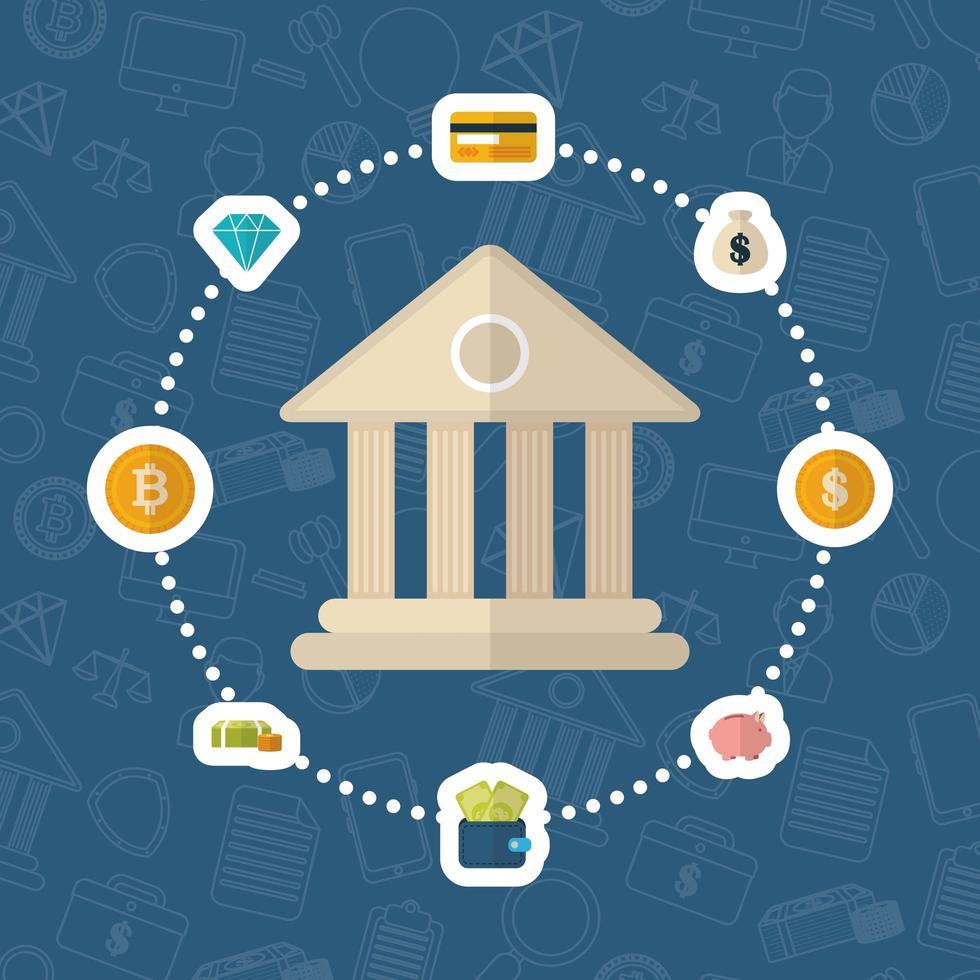diseño de iconos de criptomonedas y finanzas en dólares vector
