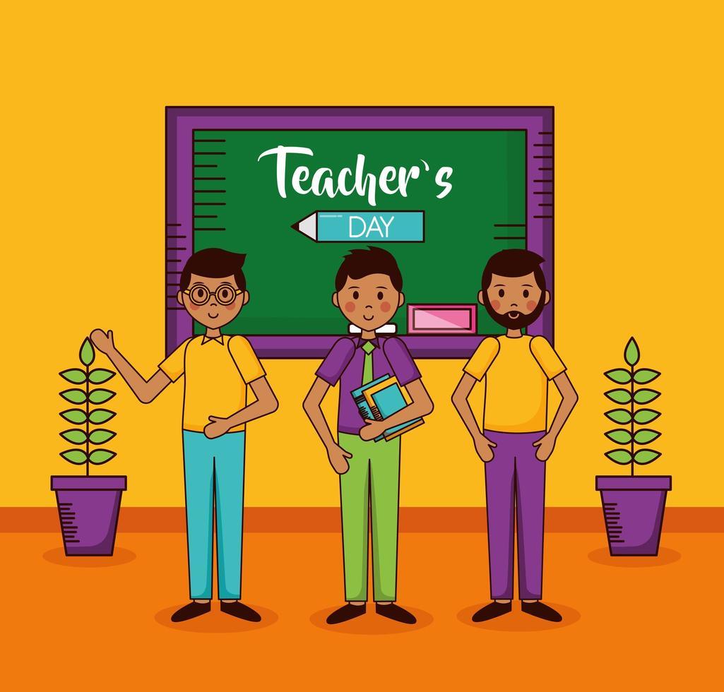 diseño de celebración del día del maestro vector