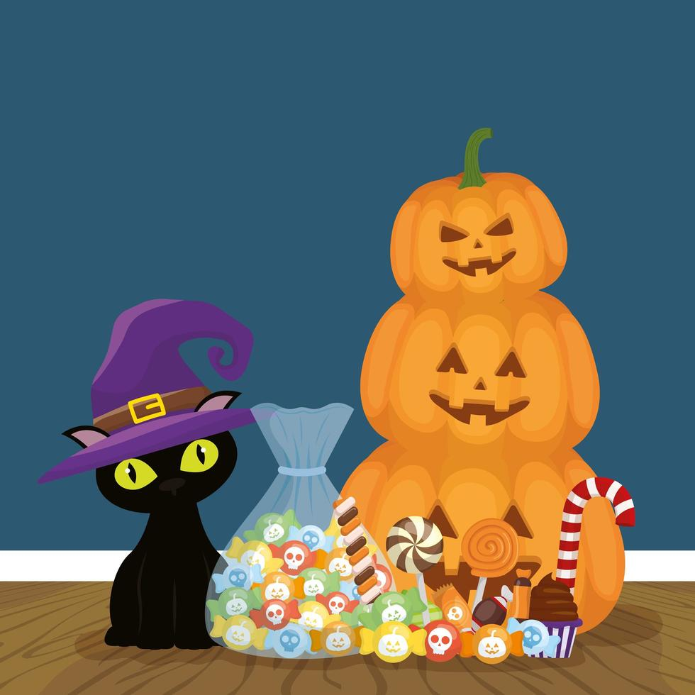 truco o trato - feliz fiesta de halloween vector