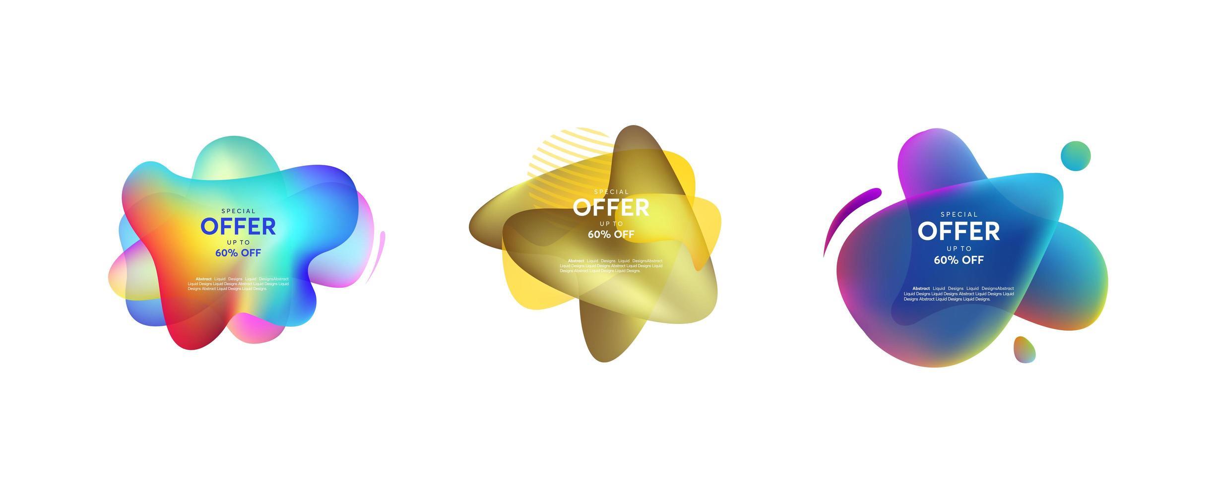 conjunto de formas líquidas abstractas vector