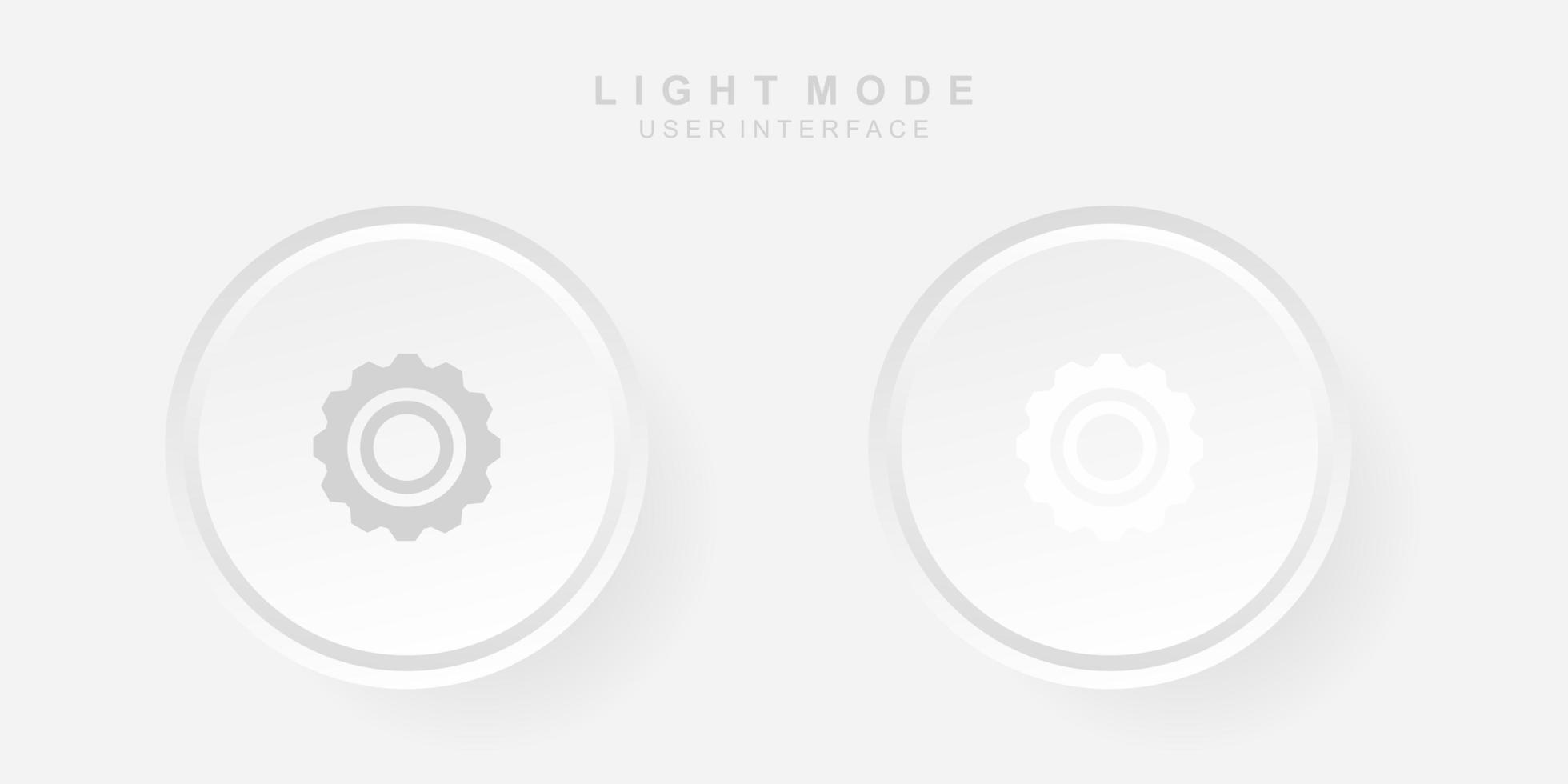 interfaz de usuario de configuración creativa simple en el diseño de neumorfismo. sencillo, moderno y minimalista. vector