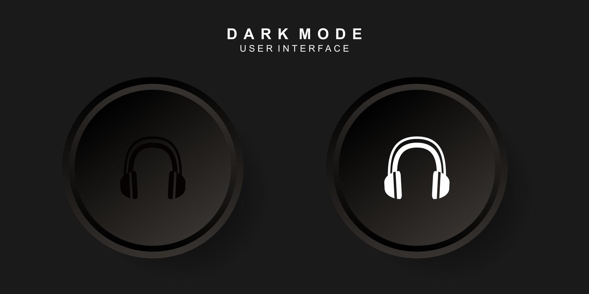 Interfaz de usuario de auricular creativo simple en diseño de neumorfismo. sencillo moderno y minimalista. vector