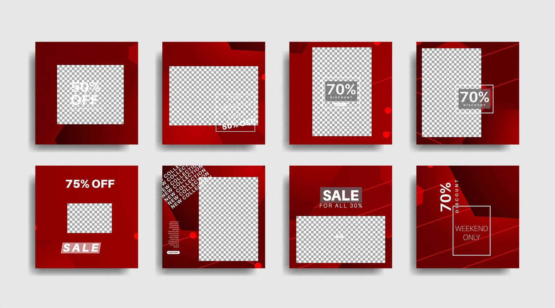 banner web cuadrado de promoción moderna para redes sociales. ilustración de diseño vectorial vector