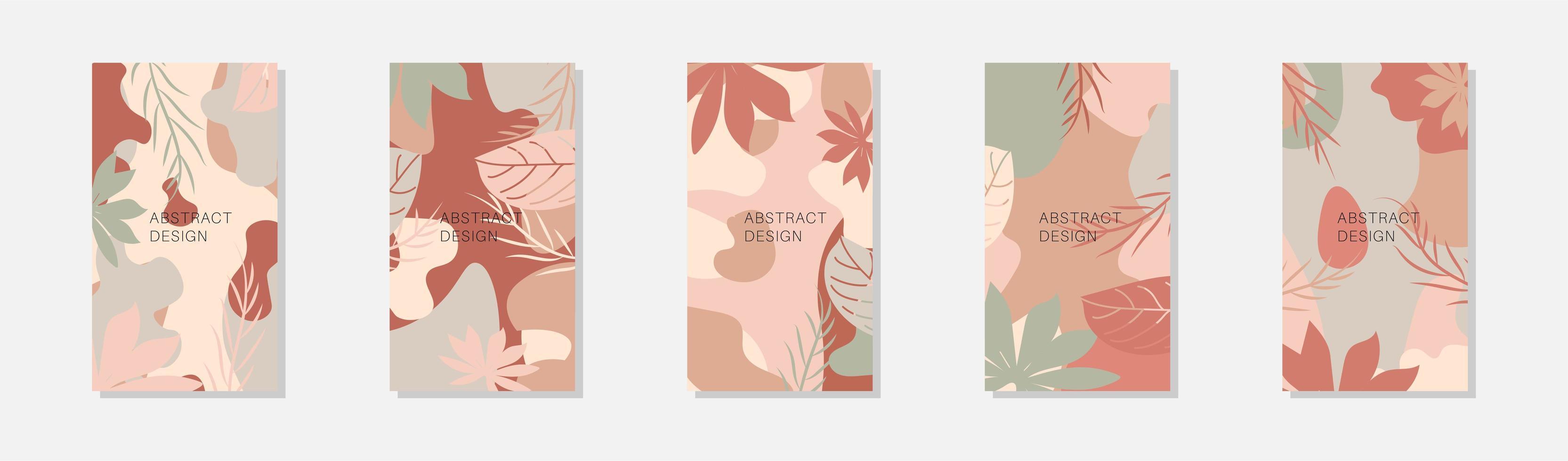 Plantillas de collage creativo con hojas para marco multimedia. conjunto de impresión social simple. diseño vectorial. vector