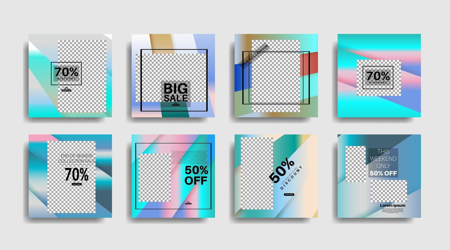 banner web cuadrado de promoción moderna para redes sociales. diseño vectorial vector