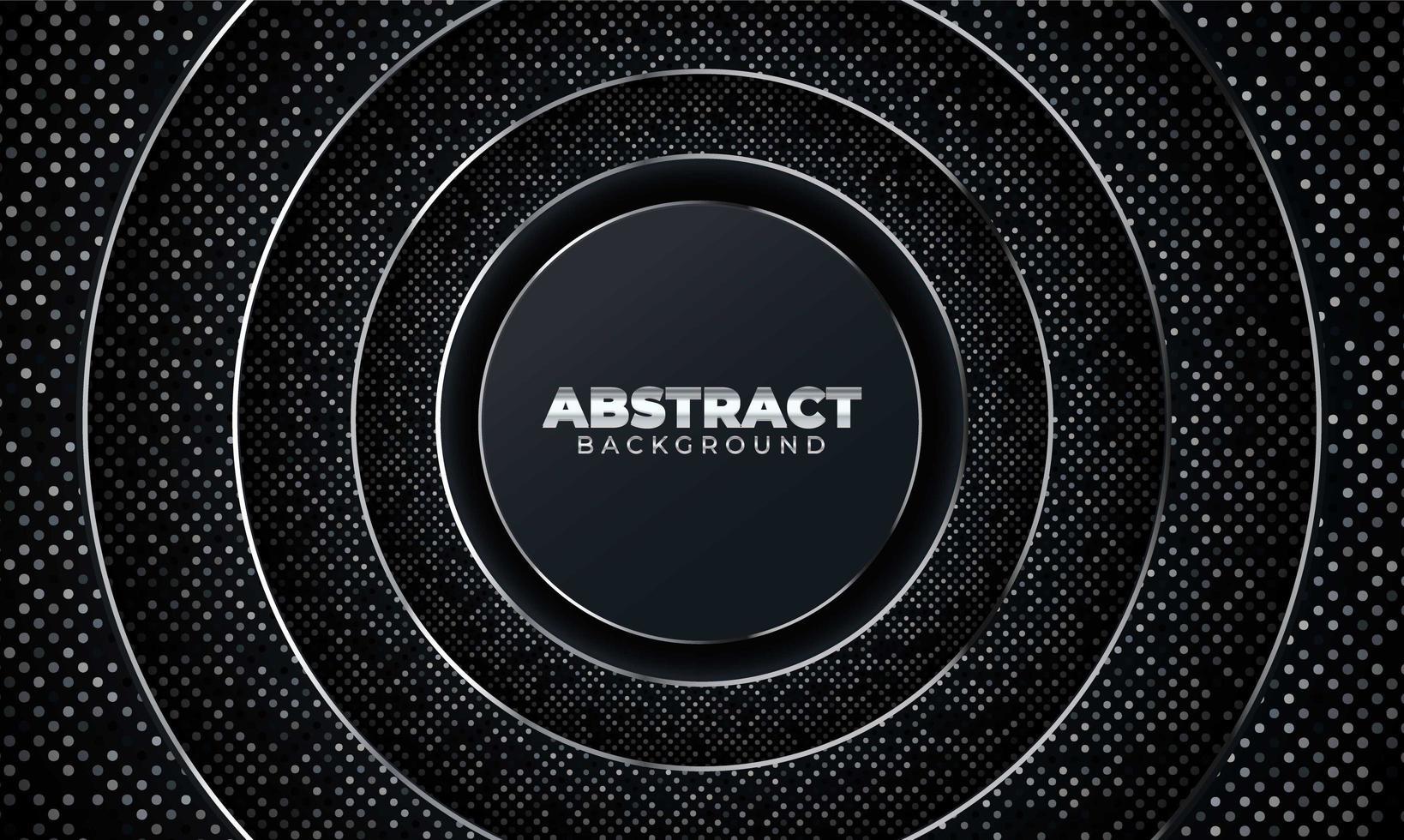 fondo abstracto con formas geométricas. Fondo abstracto negro con formas geométricas de papel. ilustración vectorial vector