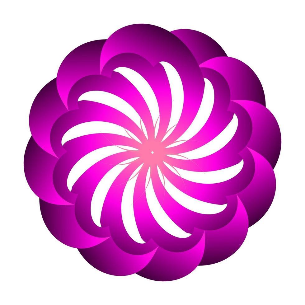diseño de vector de símbolo floral con colores morados