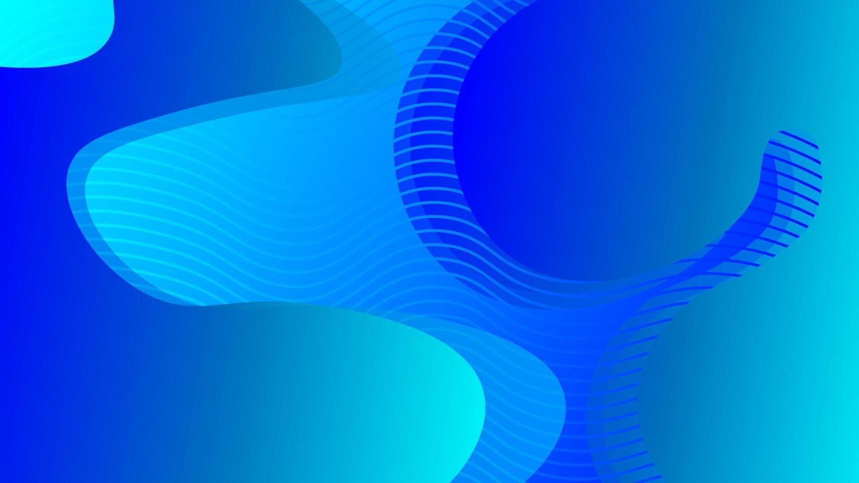 patrón de onda de líquido abstracto envuelto en rayas azules vector