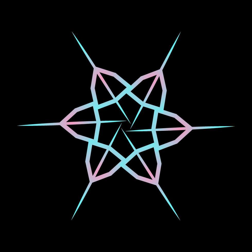 símbolo de estrella de color pastel diseño abstracto vector