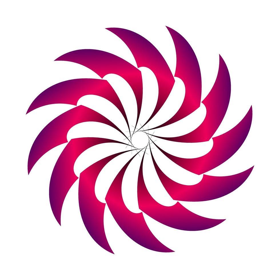 círculo abstracto transición irregular en color púrpura vector