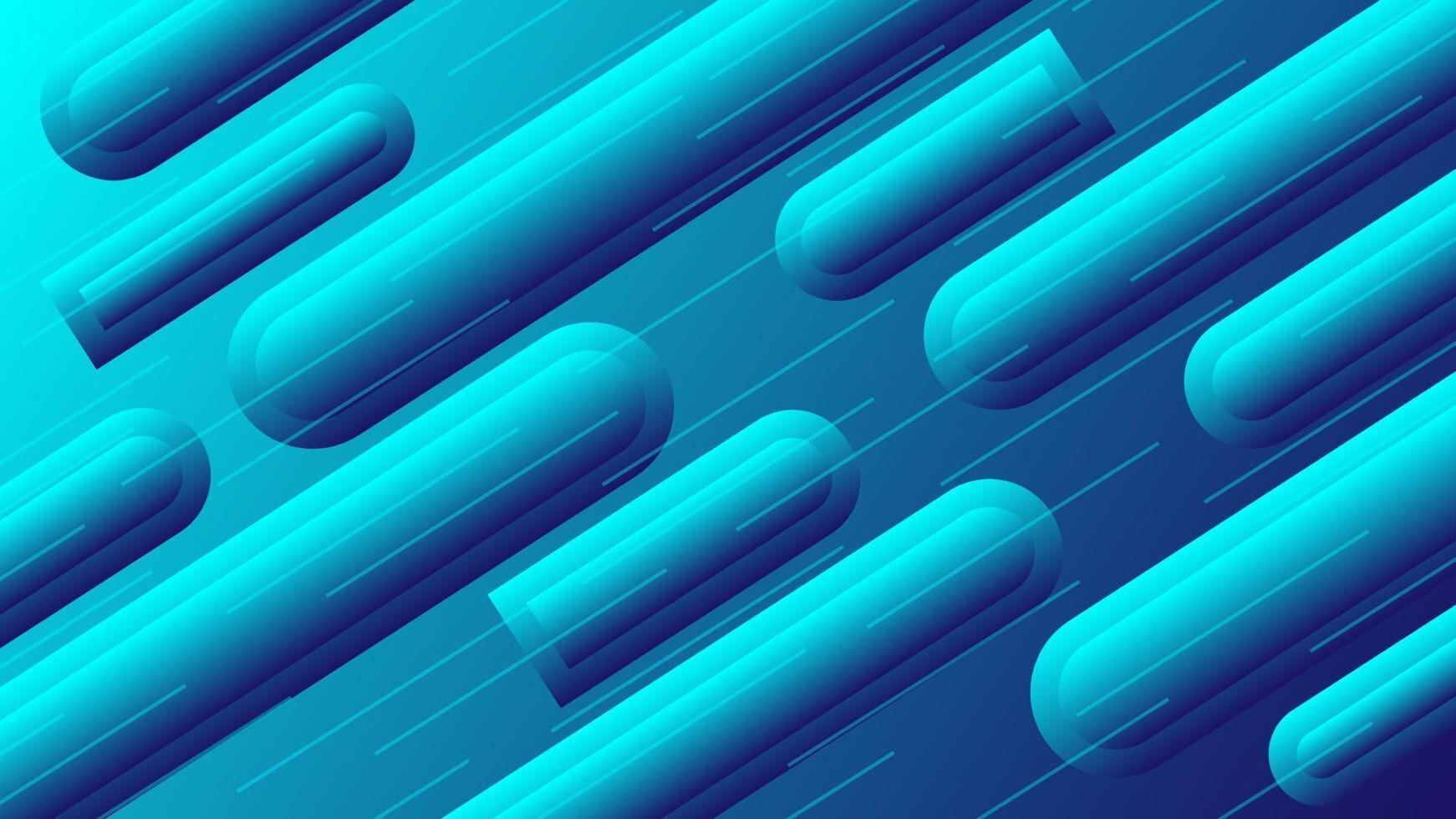 Tubo de tubo de fondo abstracto con efecto 3d envuelto en rayas azules vector