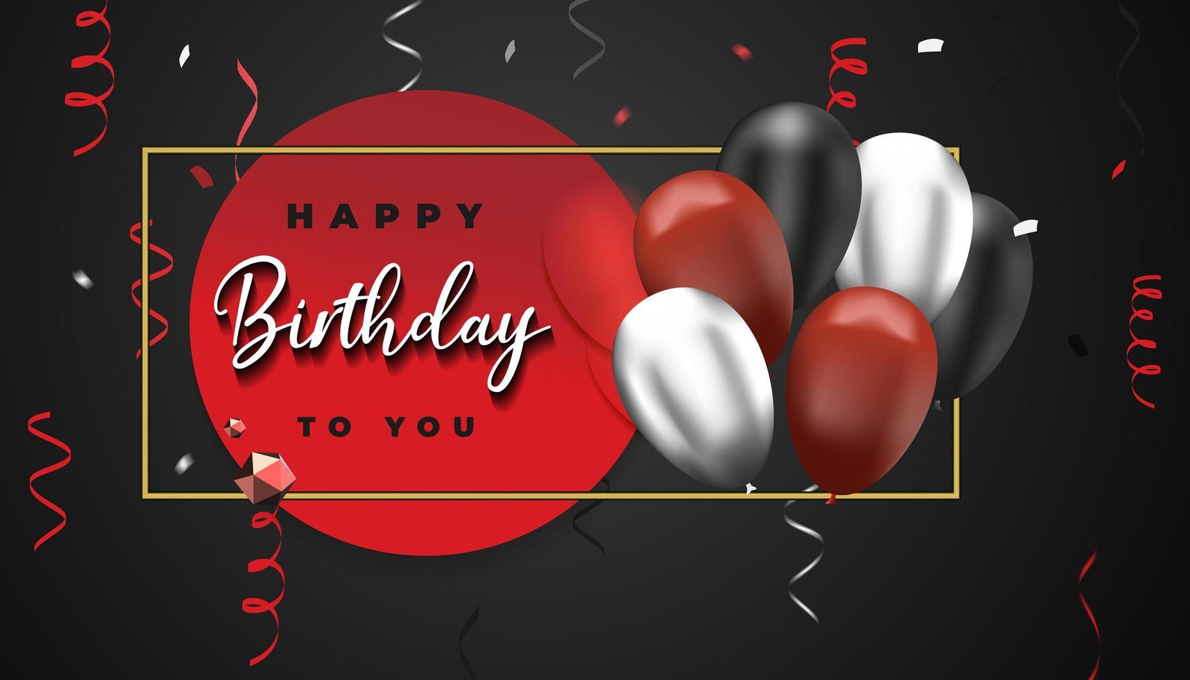 fondo feliz cumpleaños. plantilla de diseño de celebración. vector