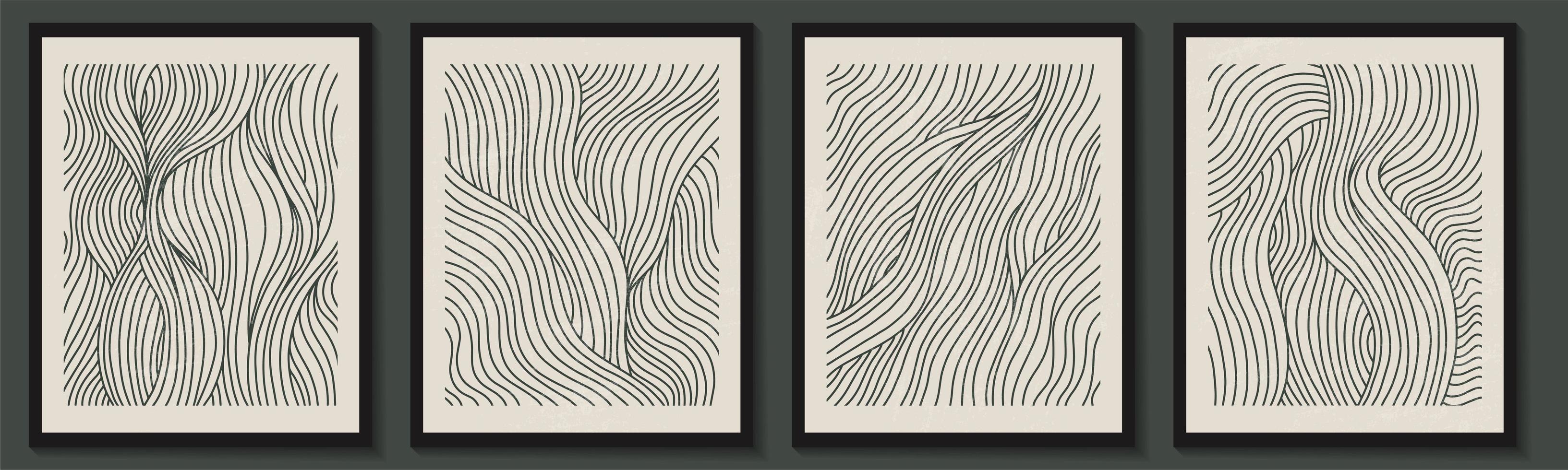 moderno conjunto contemporáneo de composición de formas minimalistas geométricas abstractas vector