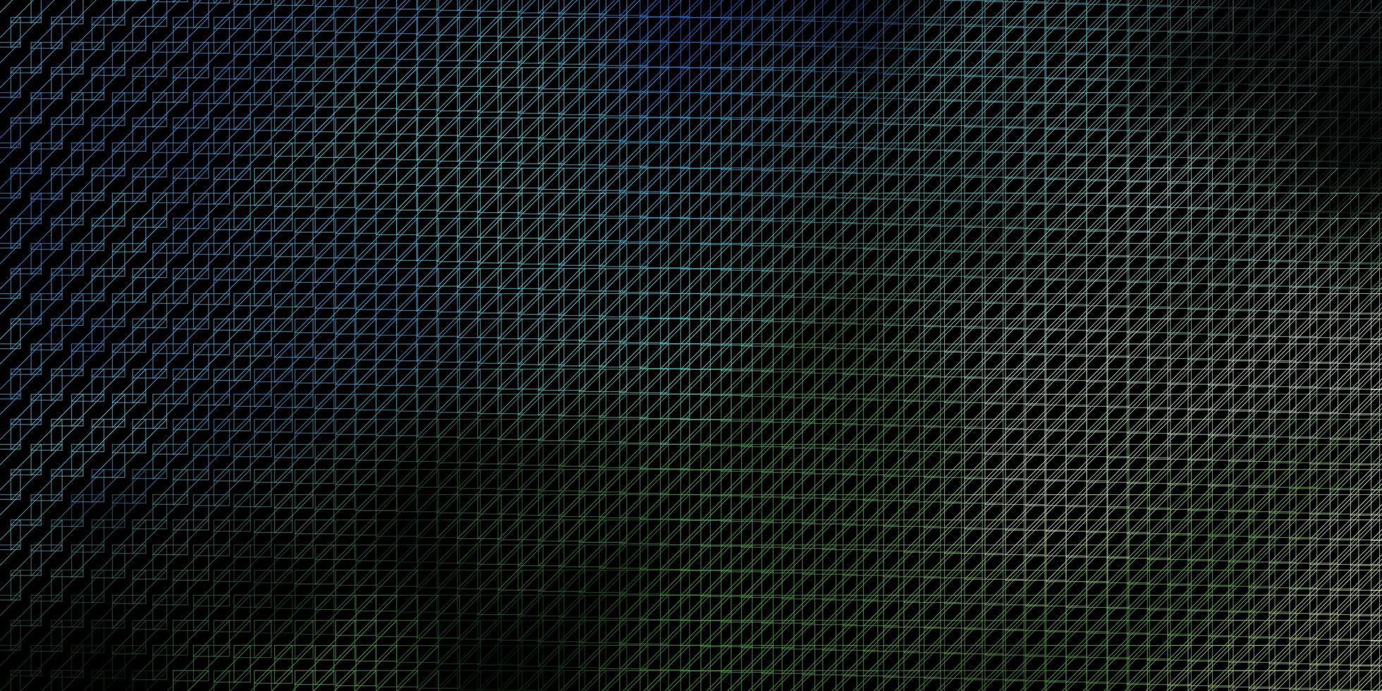 Fondo de vector azul oscuro, verde con líneas.