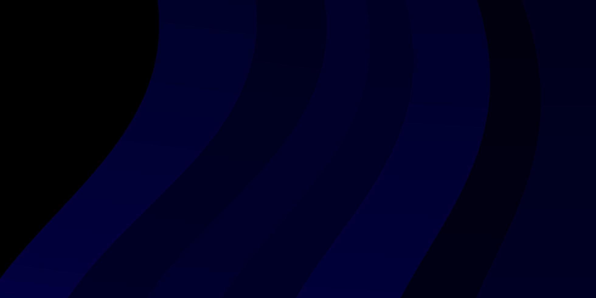 patrón de vector azul oscuro con líneas torcidas.