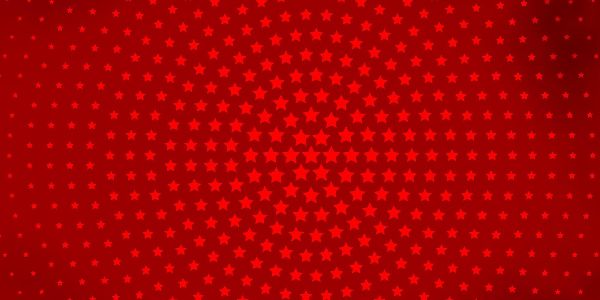 Patrón de vector naranja oscuro con estrellas abstractas.