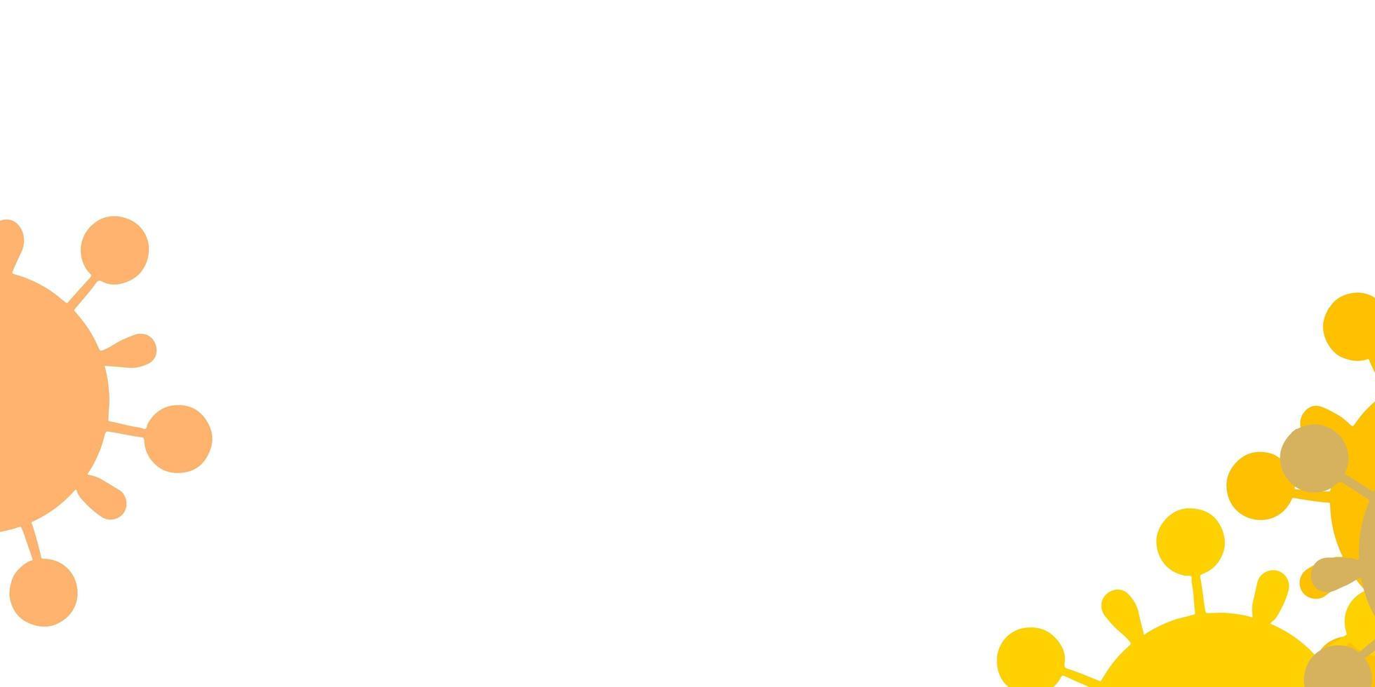 patrón de vector multicolor claro con elementos de coronavirus.