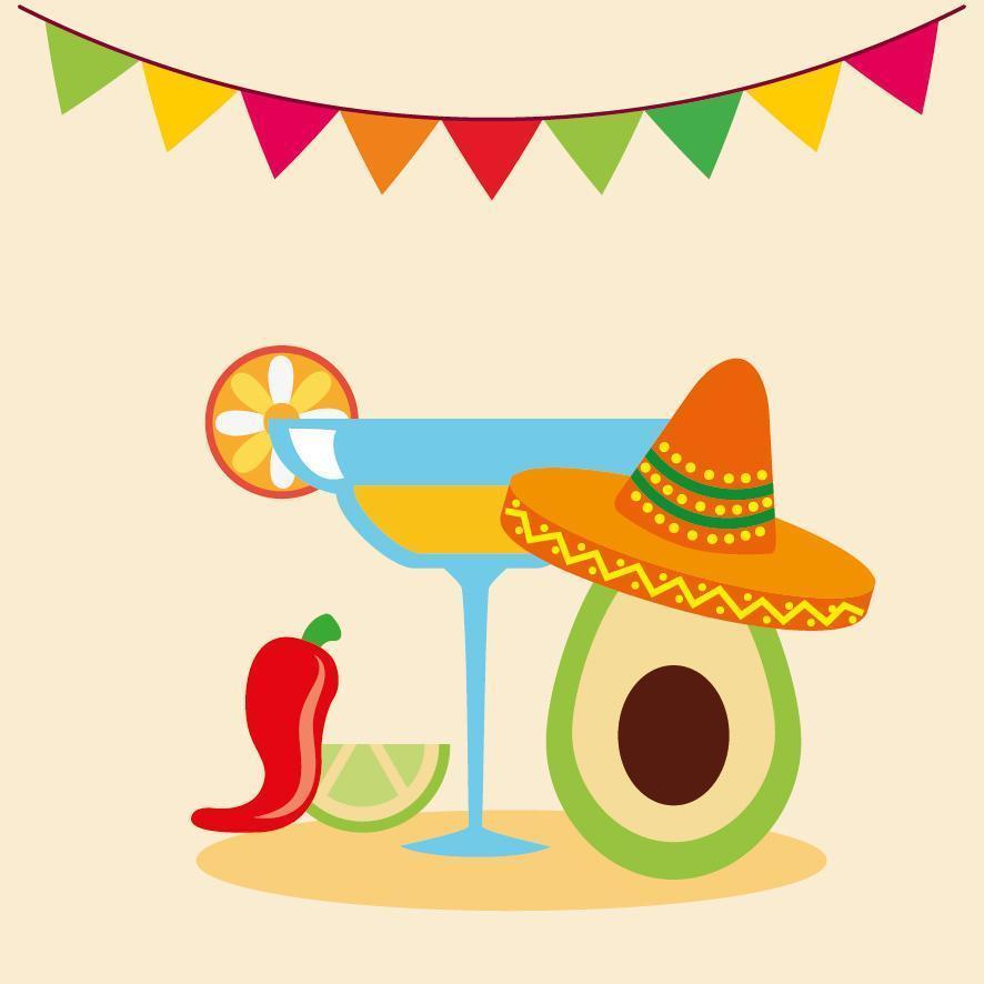 diseño vectorial de tequila mexicano vector