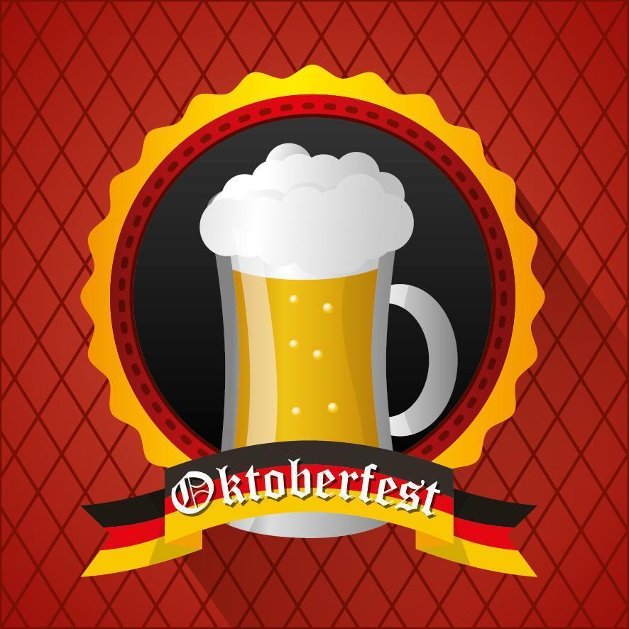 Oktoberfest celebration illustration, beer festival design vector