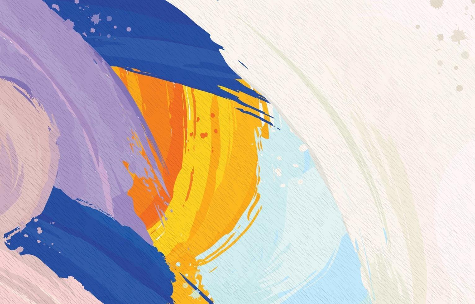 Colourful Textured Painting Background vector