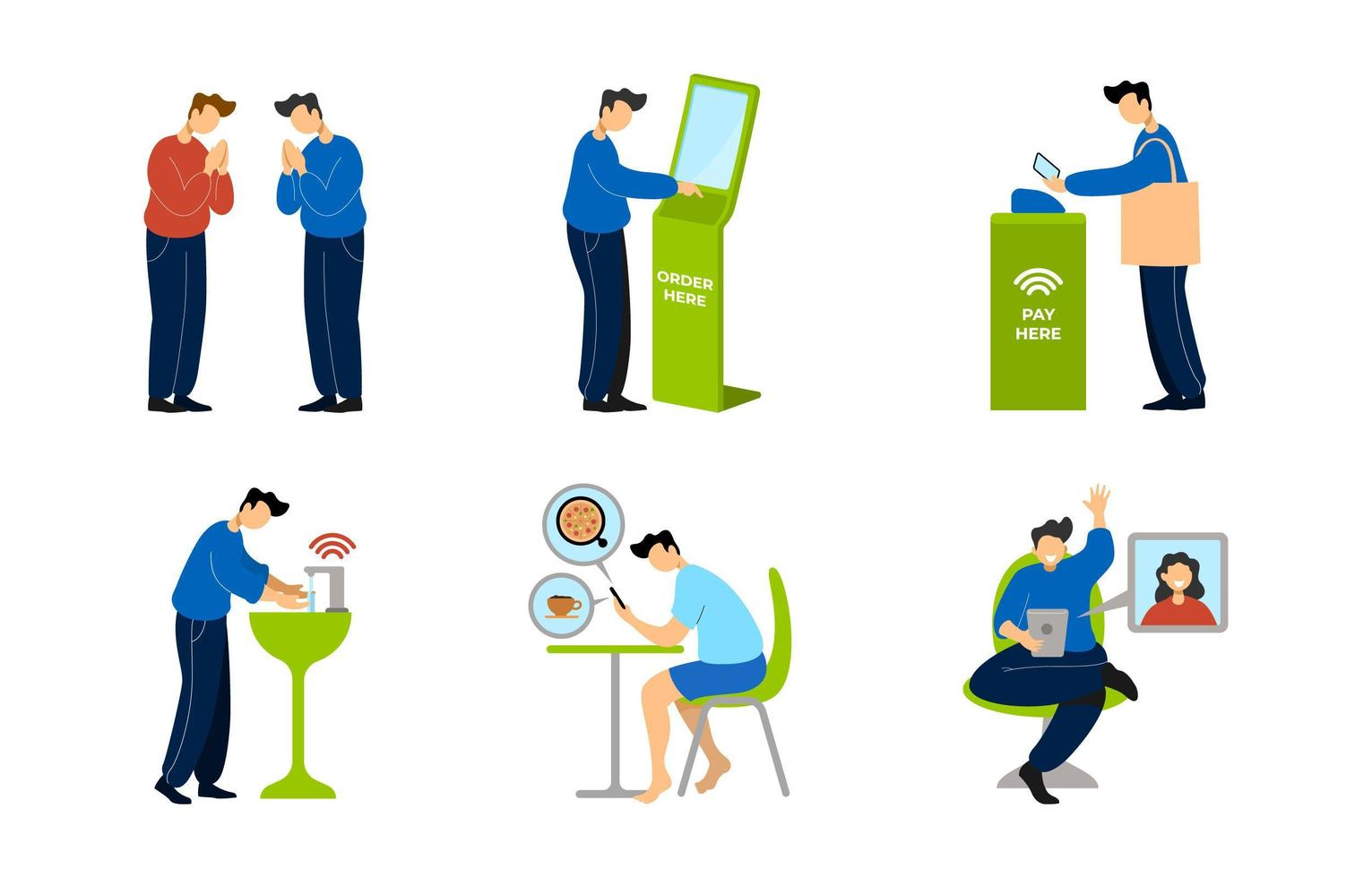 UNTACT or Contactless Technology vector
