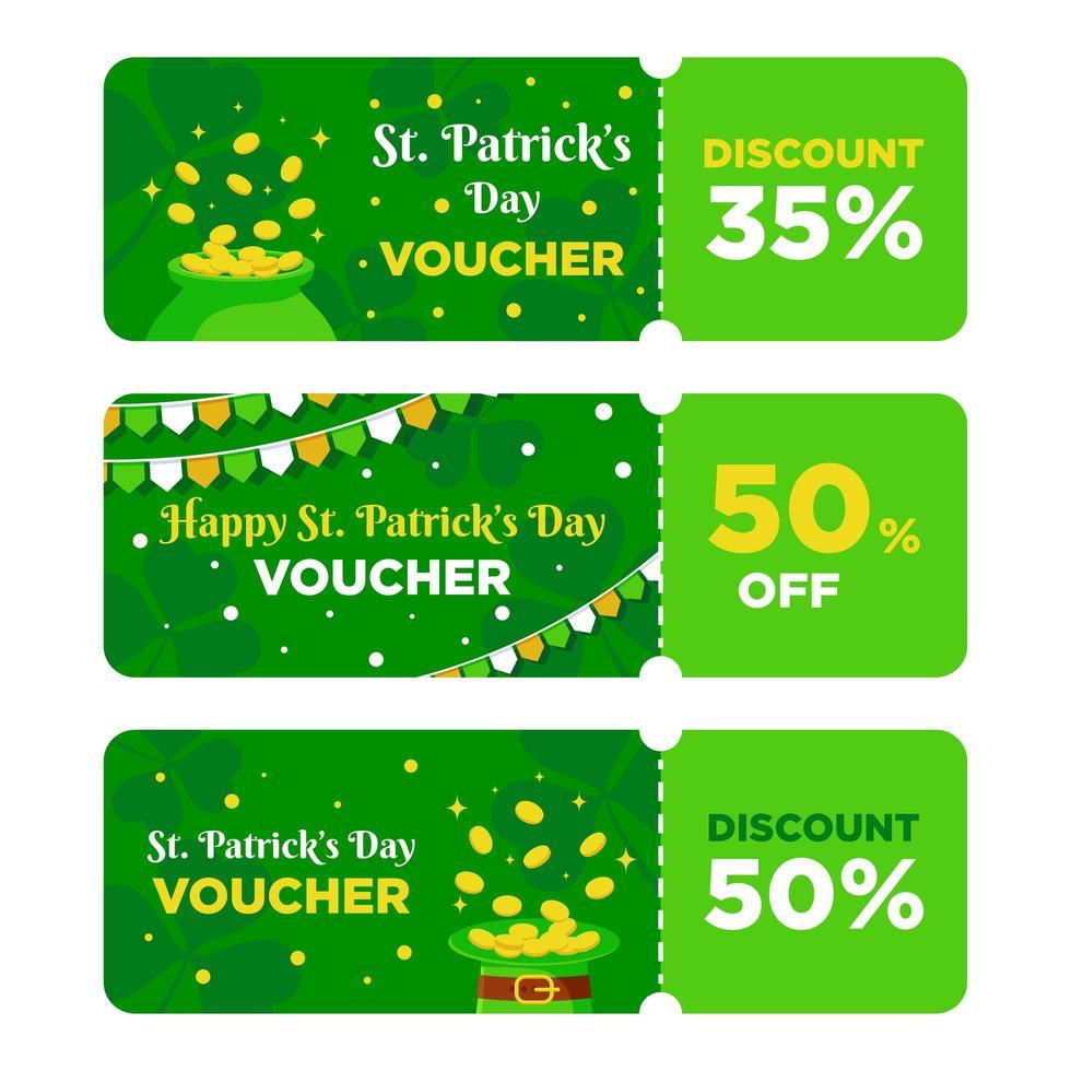 St. Patrick's Day Voucher vector