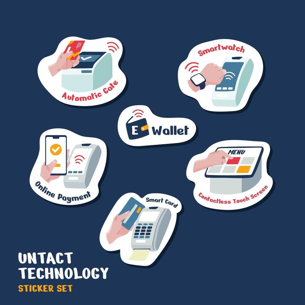 UNTACT Technology Sticker vector