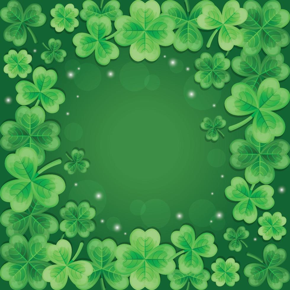 Beautiful and Elegant Gradient Green Clover Background vector
