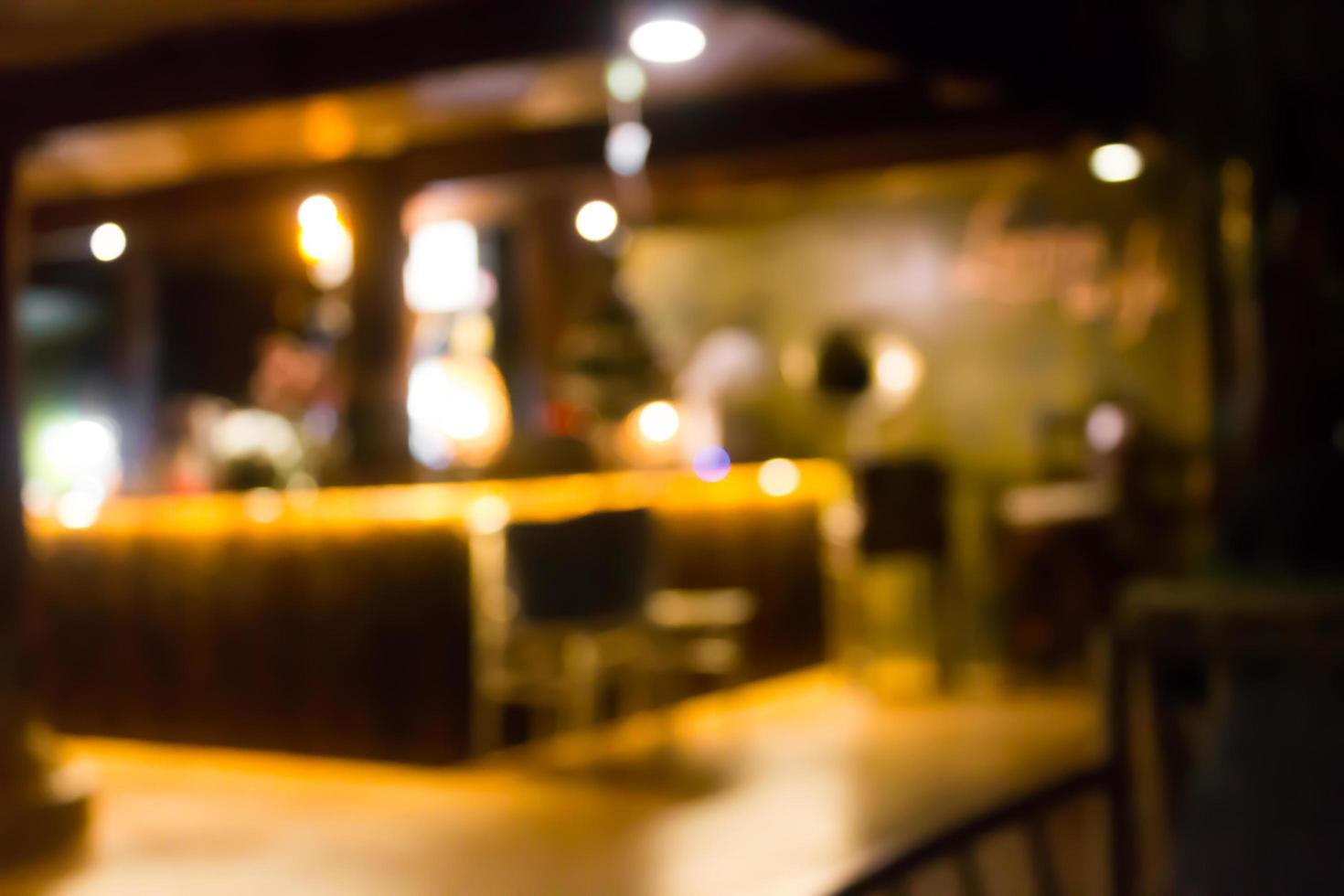 Blurred restaurant scene photo