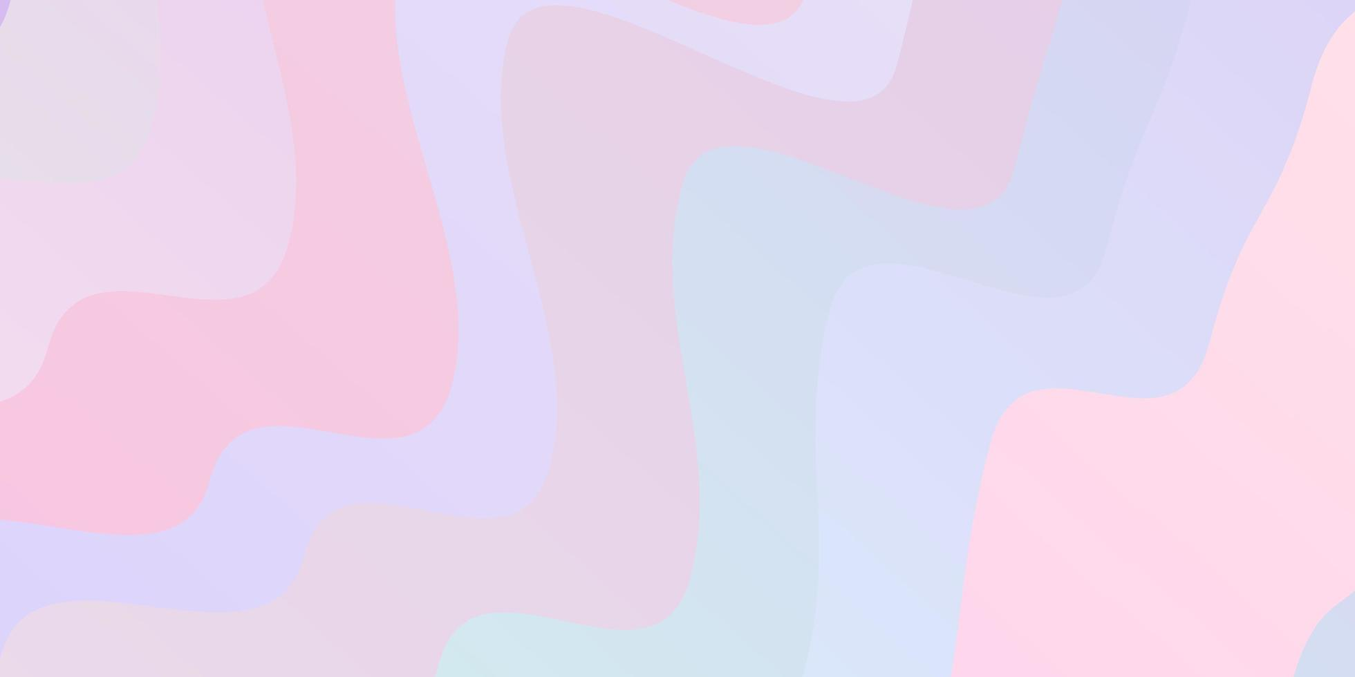 Light Purple, Pink vector background with curves.