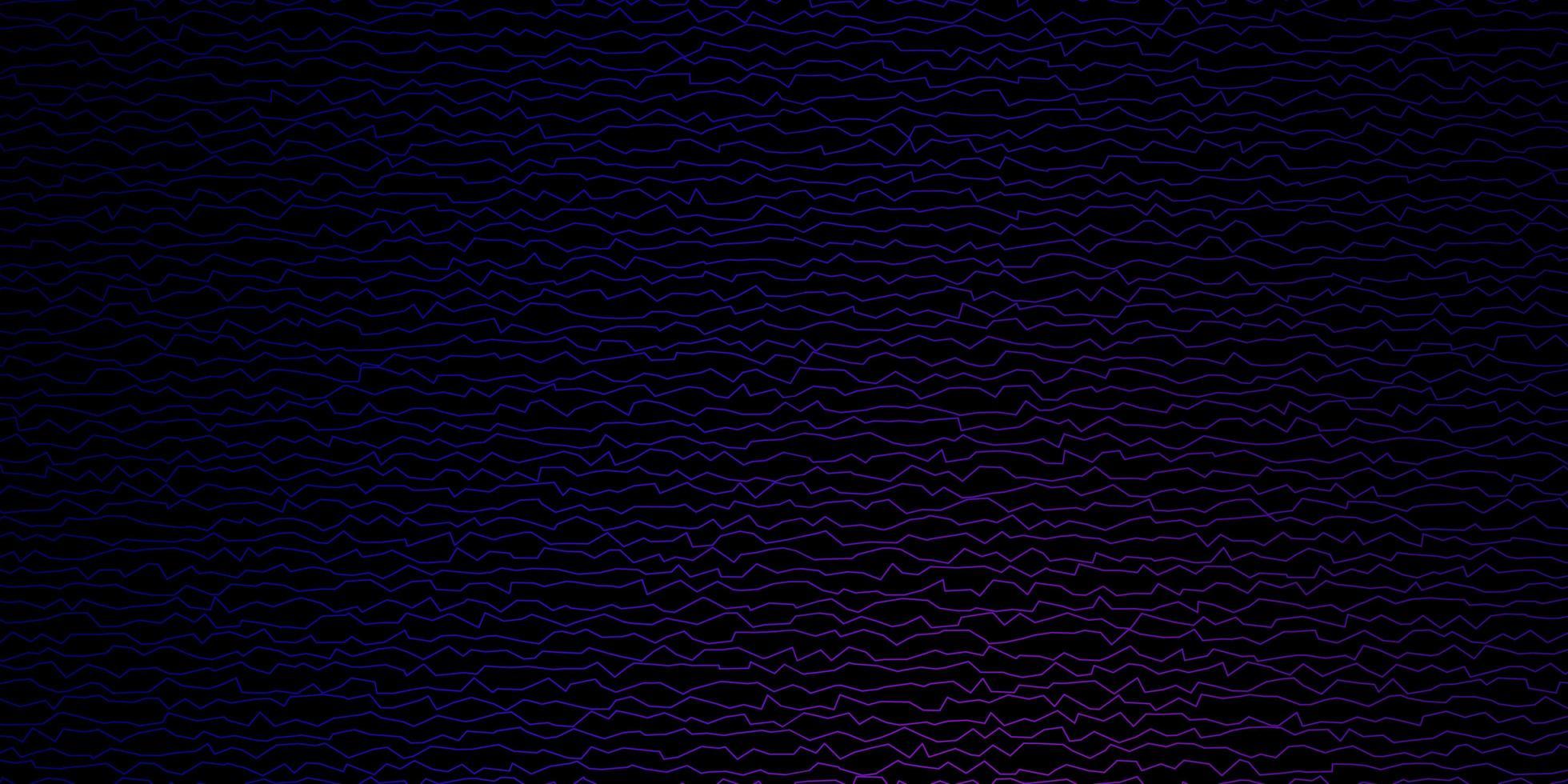 Dark Purple, Pink vector backdrop with bent lines.