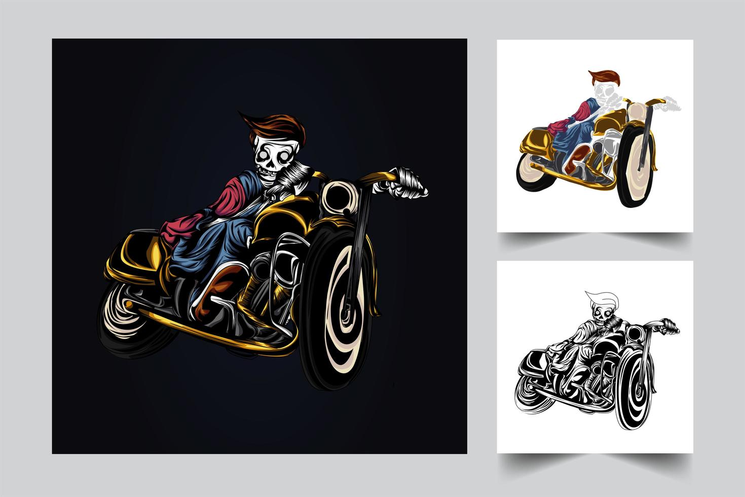 zombie rider artwork illustration vector